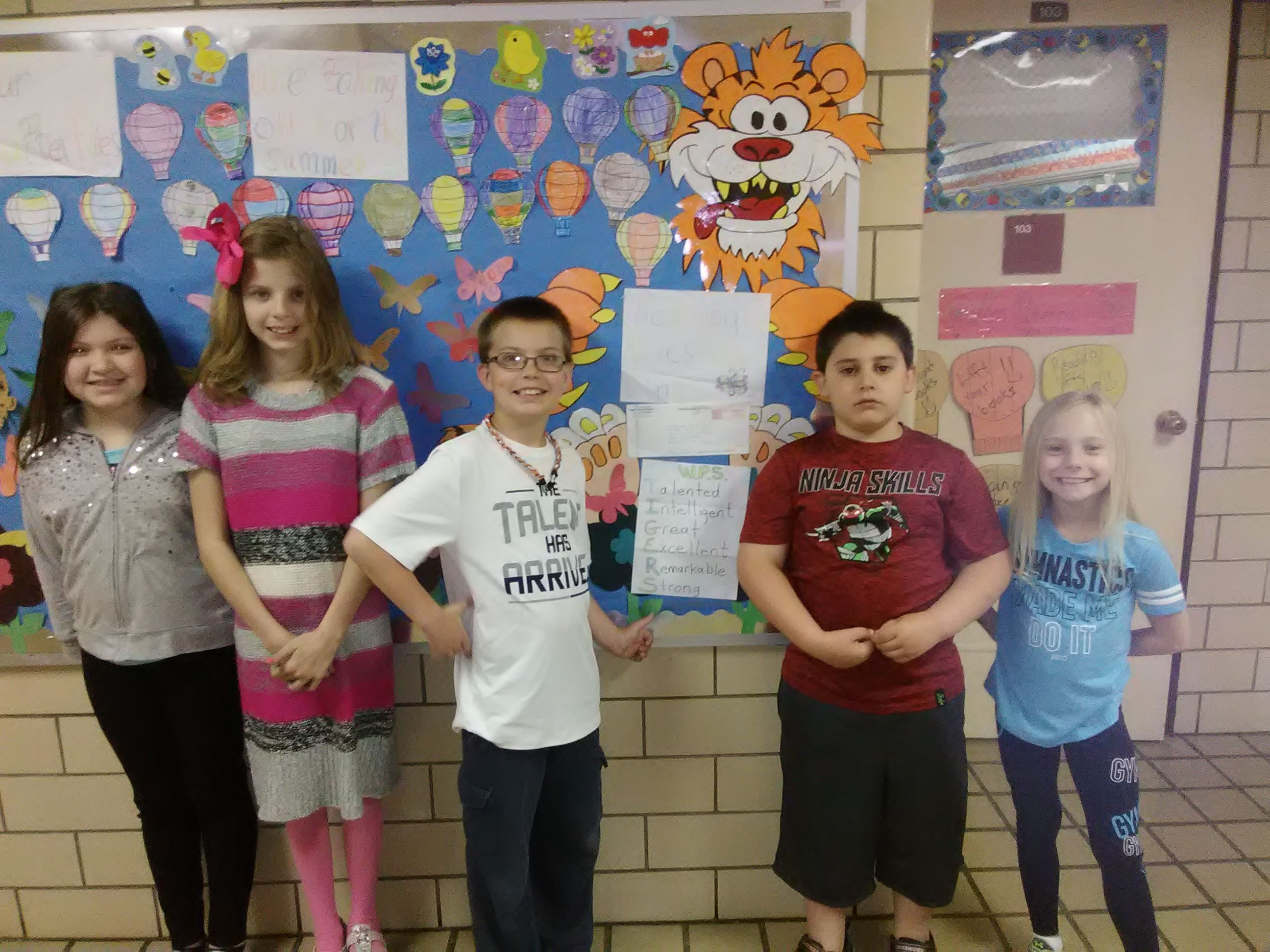 Our Pen Pals at Wellsburg Primary sent us another picture toward the end of the school year.