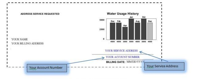 View larger version of the utility bill sample.