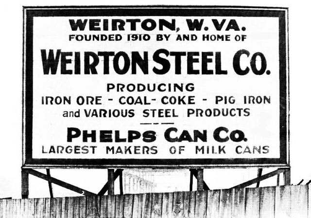Weirton Steel Co. Sign